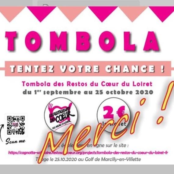 Tombola des Restos du Coeur du Loiret