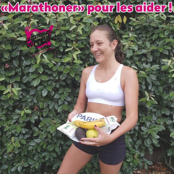 """"""" Marathoner """" pour les aider - 42km pour les Restaurants du coeur"""