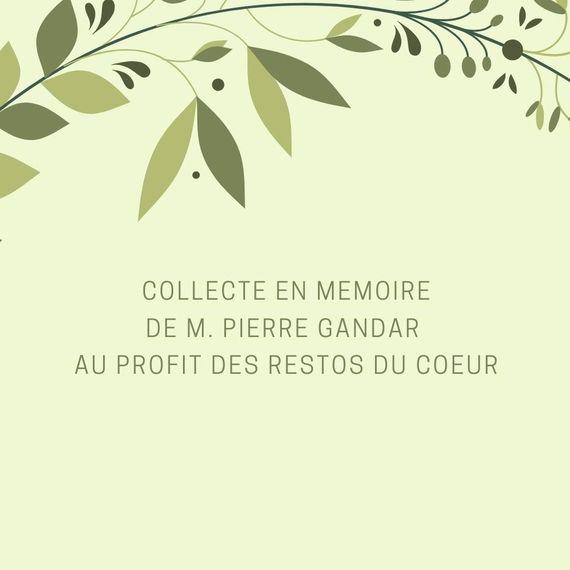 En mémoire de M. Pierre Gandar